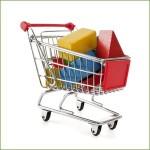 Shopping für Mutter und Kind