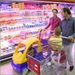 Mit der Familie Shoppen gehen
